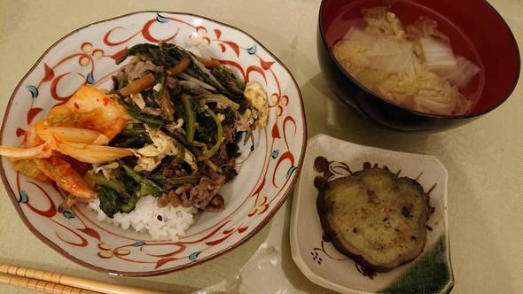 学校給食のビビンバ×白菜のコンソメスープ