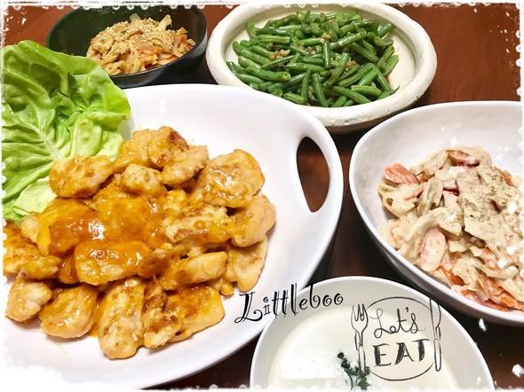【簡単!胸肉でしっとり】鶏マヨ炒めの夕飯