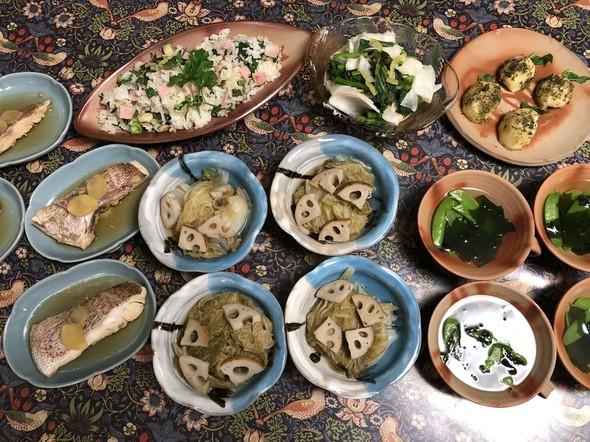 れんこんと白菜の煮物