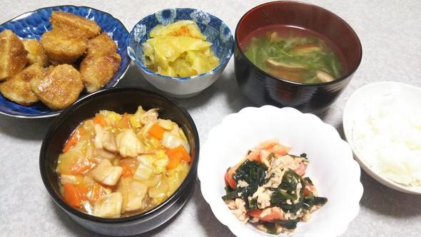 鶏もも肉と白菜のトロトロ生姜煮の晩ご飯
