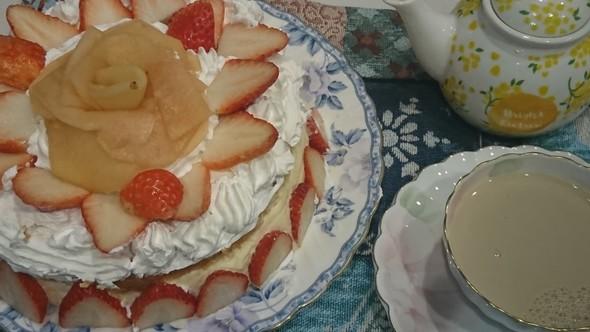 おやつ 林檎のチーズケーキ