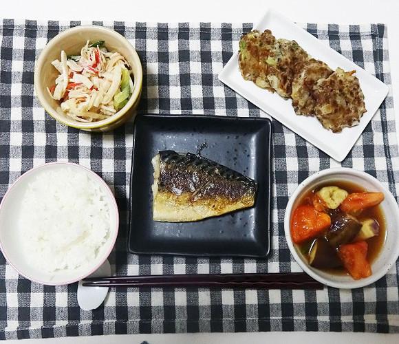 鯖のヨーグルト漬け焼きで晩ごはん