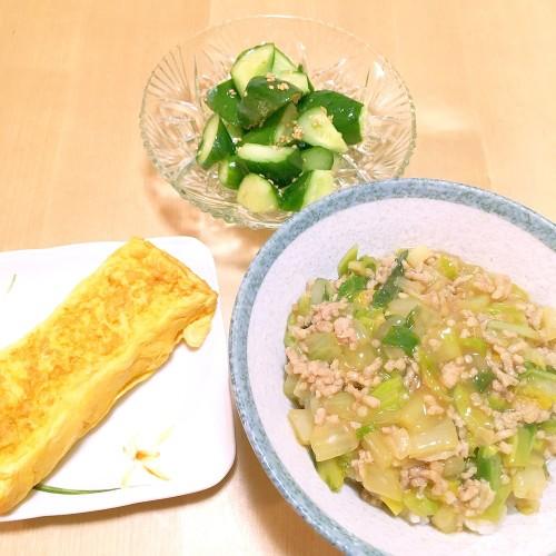 白菜を買った日の夕ごはん☆