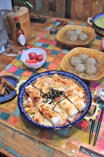 味噌チーズグラタンde晩ごはん♬