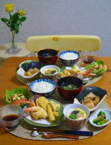 19.01.20(日)天ぷら&茶碗蒸し♪