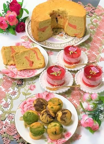 マーブルマフィン&ラズベリーチーズケーキ