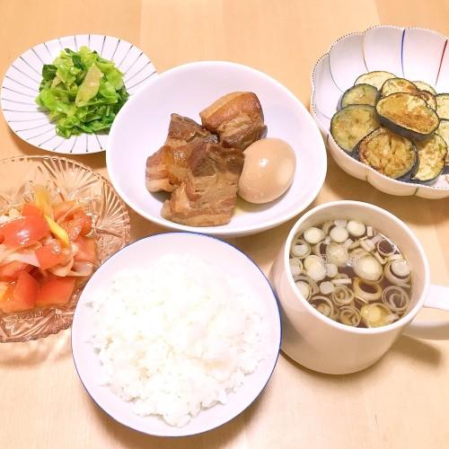 新しい圧力鍋で作った角煮の夕ごはん☆