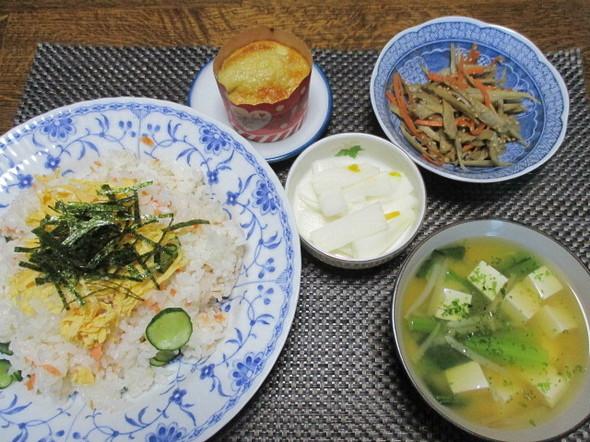 2019/2/1簡単ちらし寿司~☆で夕食