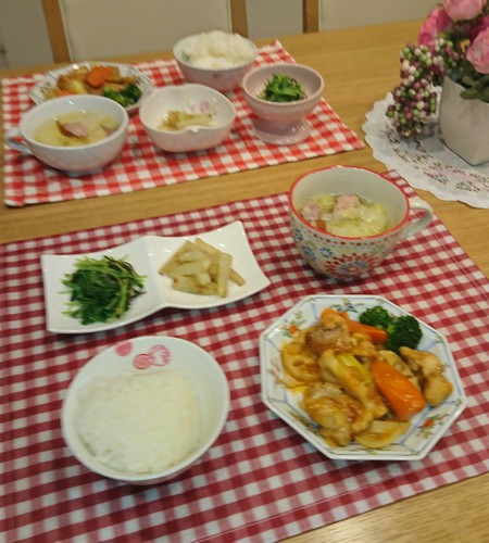 夕食 酢鶏