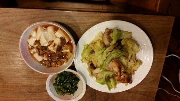 キャベツと鶏もも肉の塩炒め