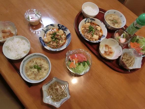 本格麻婆豆腐で夕ご飯
