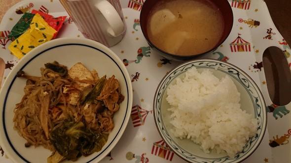豚こまで肉豆腐×カブのお味噌汁♡
