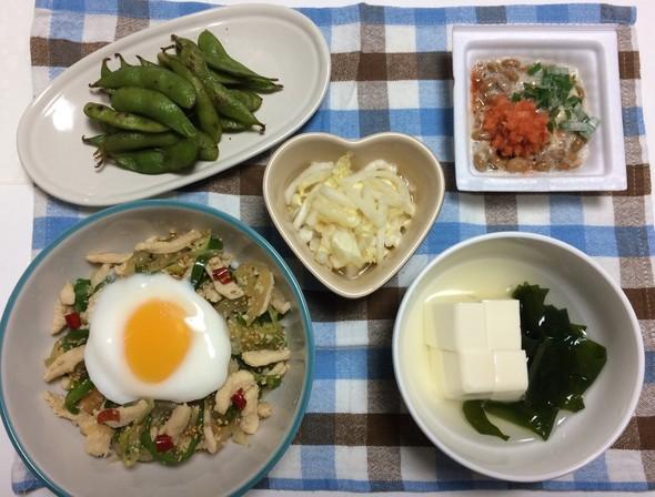 鶏肉のスタ丼ピリ辛ニンニク醤油☆百拾捌夜