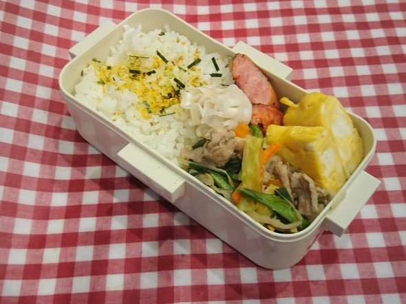 お弁当 野菜炒め