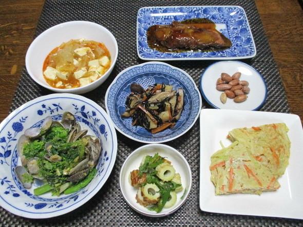 2019/2/16春色あさり菜の花桜えび