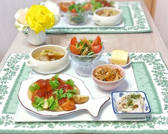 鮭とポテトのバーベキューソース