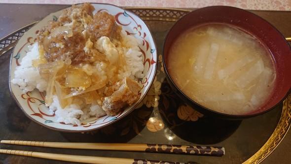 かつ丼×大根のお味噌汁♡