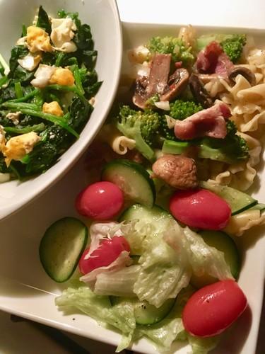 ベーコンとたっぷり野菜のこくうまパスタ