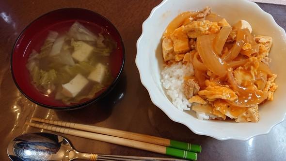 豆腐と卵の甘酢炒め×タイ風スープ♡