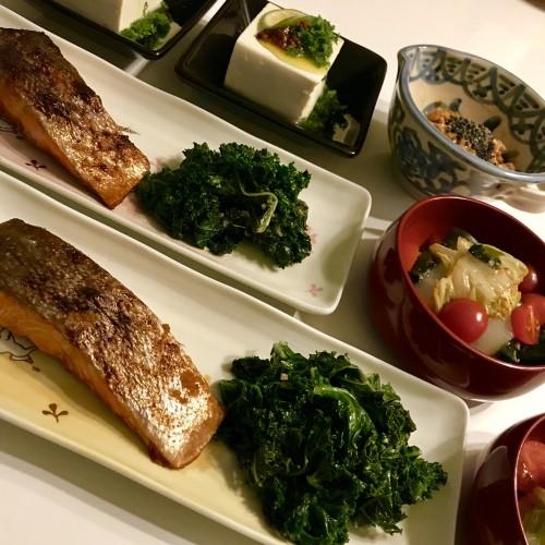 唐辛子醤油麹が大活躍の夕食