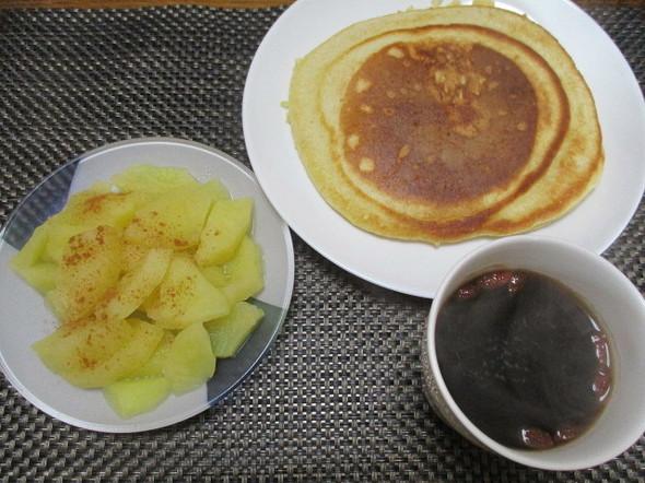 2019/3/15りんご煮とパンケーキ