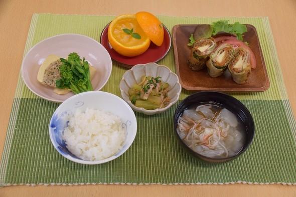 豚肉ときんぴらの焼春巻&ふきベーコン炒め
