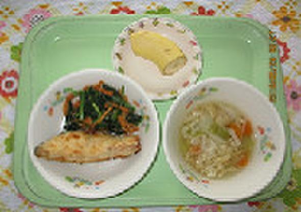 やさしい味,鮭のムニエル@つくば市幼児食