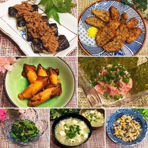 ☆茄子の味噌ひき肉乗せ☆で晩御飯♫