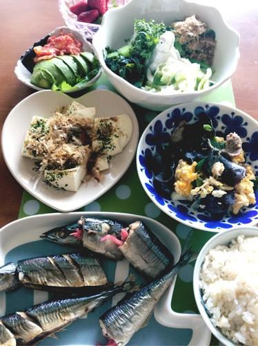 *お肉もお魚もね‼︎の夕食*
