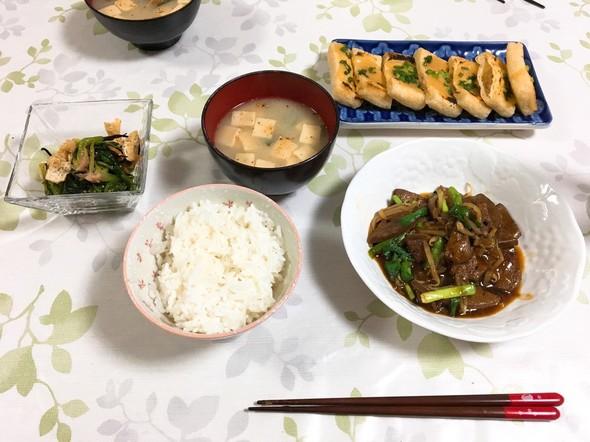 夕食*レバニラ炒め