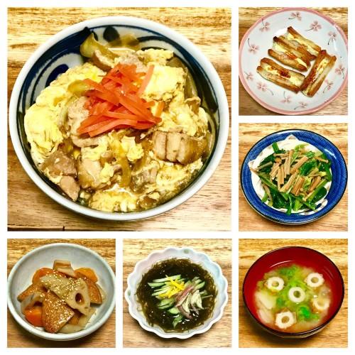親子丼の晩ご飯~♪