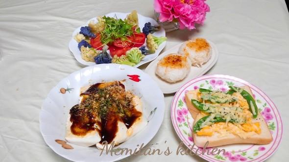 エンドウと卵とチーズの春色トーストランチ