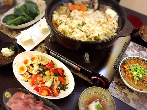 鶏団子鍋とおつまみの日