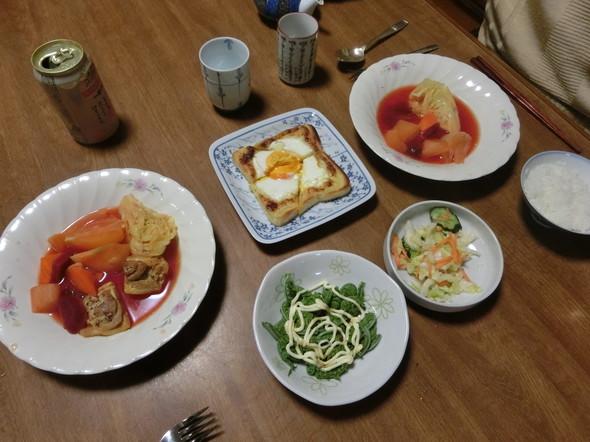 鶏肉ボルシチで夕ご飯