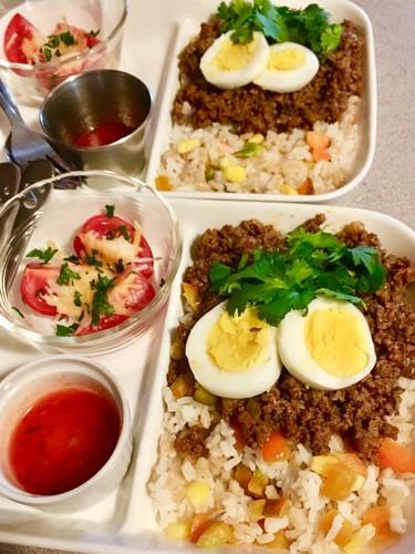 もち麦とパプリカのタコライス風サラダ☆