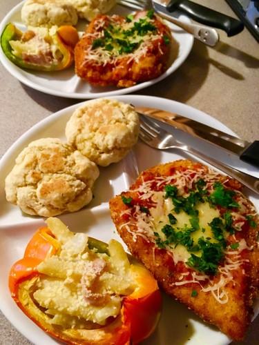 鶏胸肉イタリアンピザ