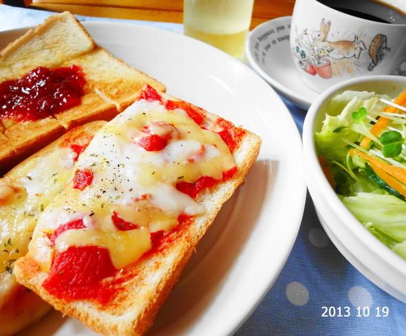 トマトチーズトースト×手作り苺ジャム
