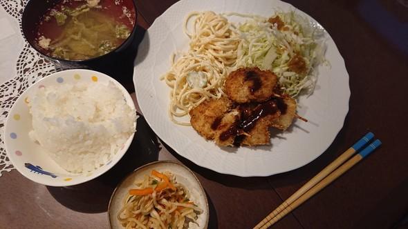 ささみ(胸肉)の串カツ×コンソメスープ♡