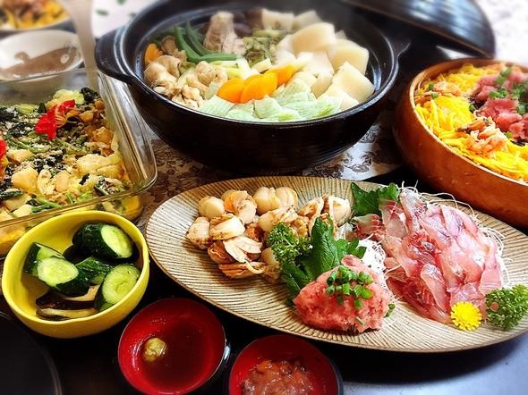 休日ごはん♪チラシ寿司とおつまみで
