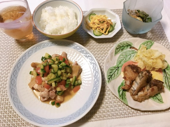 鶏モモ肉☆カラフル夏野菜ソース✨