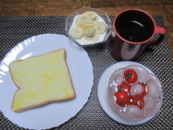 2019/7/28練乳トーストで娘朝食