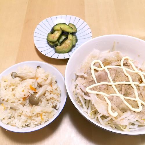 炊き込みご飯の昼ごはん☆