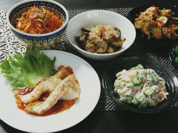 白身魚のチリチーズ焼きで晩ご飯