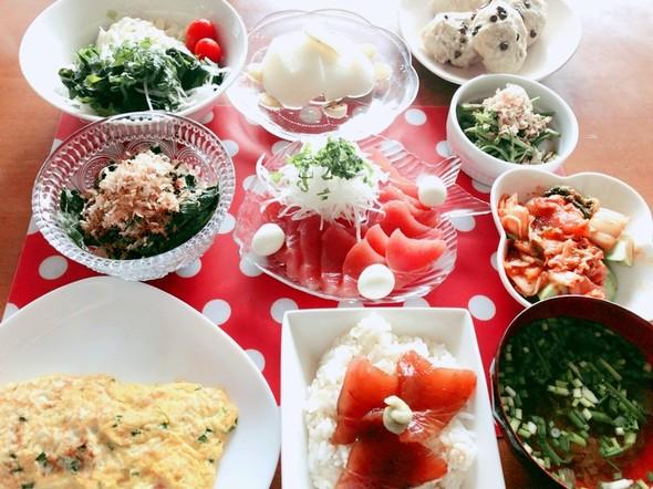 *マグロ食べたい♡土曜日の夕食*