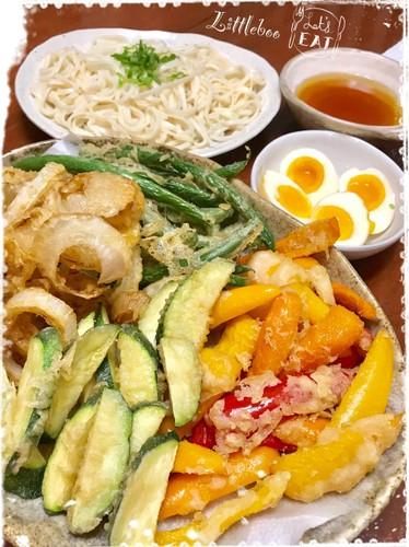 天ぷらの夕ご飯✿