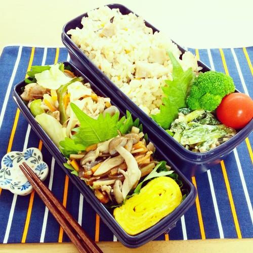 豚肉と野菜炒め弁当♪