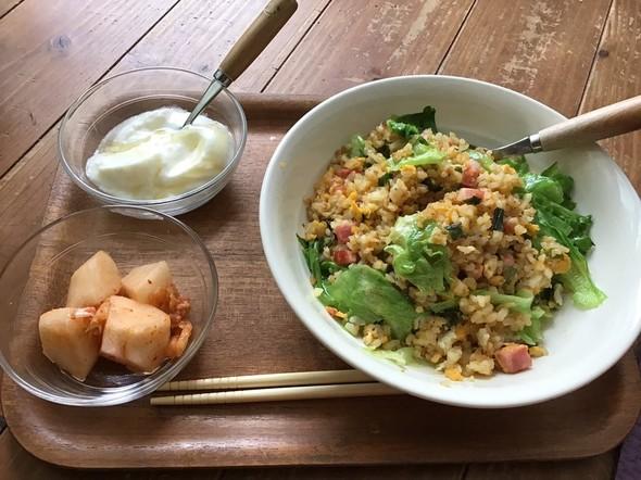 炒飯と素敵な梨キムチ
