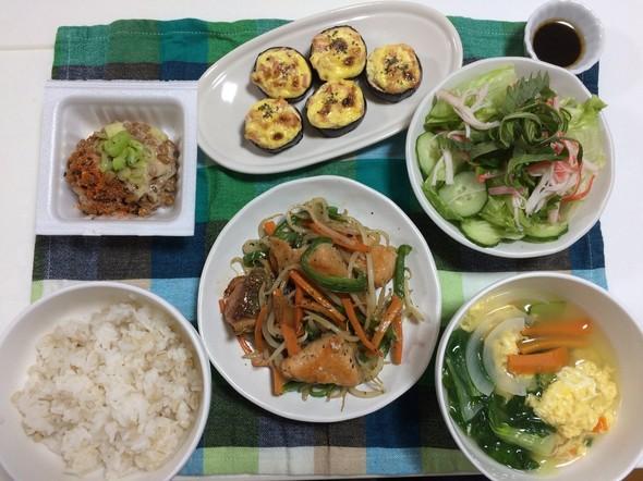彩り野菜とサーモンのムニエル☆弐百拾玖夜