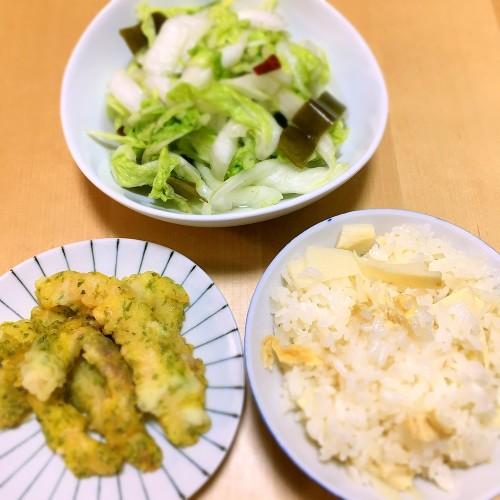 炊き込みご飯の夕ごはん☆