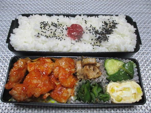 2019/11/6鶏肉のケチャップ炒め弁